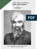 Jodh Singh_Essays on Gurmat Sangeet in Honour of Sardar Jodh Singh