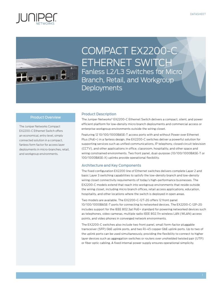 EX 2200-C Data Sheet.PDF | Network Switch | Ip Address
