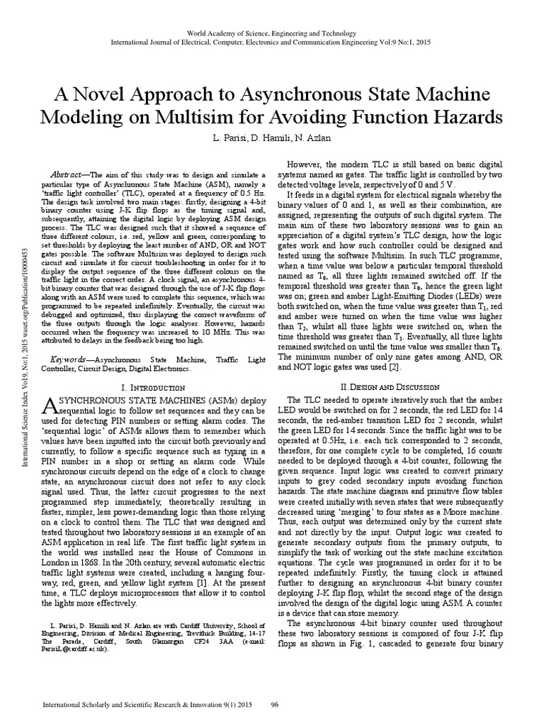 A Novel Approach To Asynchronous State Machine Modeling On Multisim Flip Flop Circuit Diagram Of The Proteus Simulation Adesign For Avoiding Function Hazards Digital Electronics Electronic Circuits