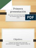 Pasos para elaborar una presentación