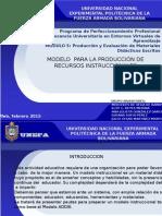 MODELO  PARA LA PRODUCCIÓN DE RECURSOS INSTRUCCIONALES GRUPO INVENTORESes Definitivo