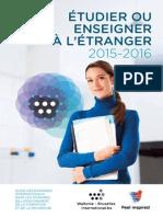 Etudier Enseigner a Etranger 2015 2016