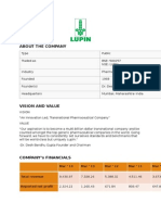 Lupin Limited a detailed report