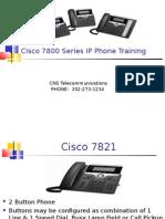 7800 Series -Telecom IP Phone Training