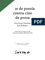 Pasolini Pier Paolo - Cine de Poesia Contra Cine de Prosa
