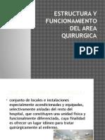 Estructura y Funcionamiento Del Area Quirurgica