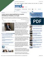 Luksic asume responsabilidad por reunión solicitada por Dávalos y su mujer | Emol.com