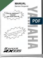 Yamaha RX135 Wiring Diagram on