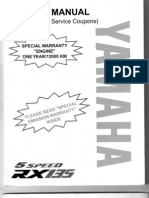 RX 135 5speed manual