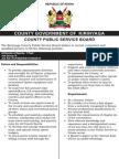 Kirinyaga County Public Service Board - Vacancies-21st Feb 2015