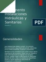 Reglamento Instalaciones Hidráulicas y Sanitarias