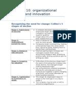 MNO Chapter 10 - Organizational Change and Motivation