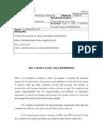 Reporte Caso 3. ABC, A World Class Local Enterprise