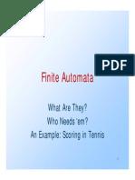 Finite State Automata