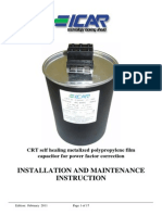 Installation and Maintenance [Lv Crt Capacitors]