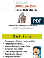 STATISTIK KESEHATAN- Slide IV - Pengumpln n Pengolhn Dt - 25 Maret 2014