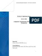 Intel Corporation Report - FIM Assignment