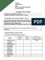 Linguistics Course Report