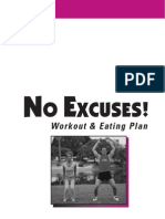 No Excuses - Workout and Eating Plan