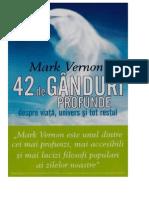 Mark Vernon - 42 de Ganduri Profunde