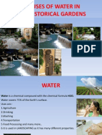 Use of water in landscaping
