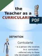 teacher as curricularist