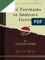 The Tantrasara of Abhinava Gupta