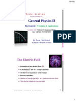 General Physics II-4electric Field