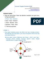 Solusi Olimpiade Astronomi Tingkat Provinsi 2008