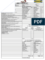 Daily Site Report Format
