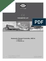 DEIF AGC-4 parameter list 4189340688 UK_2014.02.10