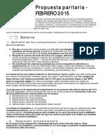 propuesta paritaria 2015