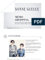 BonneGueule Memo Shopping