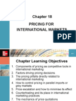 Chapter 18 Pricing for International Markets