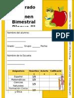 Examen 3er Grado Bloque III