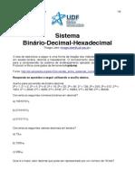 Exercicio Binario Decimal Hexadecimal