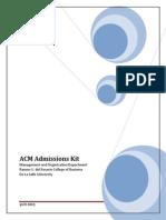 ACM S002 Admissions Kit