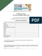 Sch. di partecipazione _La scuola che cambia, cambia l'Italia.doc