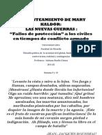 Mary Kaldor Las Nuevas Guerras