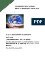 Aprendizaje y Enseñanza Colaborativos Begoña Gros.