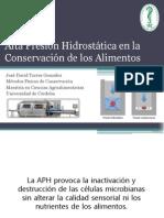 Aplicación de La Alta Presión Hidrostática - En La Conservación de Alimentos