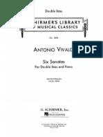 Vivaldi Six Sinatas for Double Bass and Piano Drew Solo Contrabass