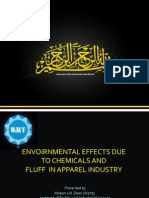 Envoirnmental Effects Due to Chemicals and Fluff in Apparel Industry