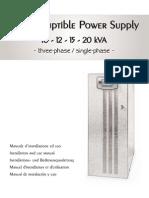 Manual Riello MST 10-12-15-20 Kva