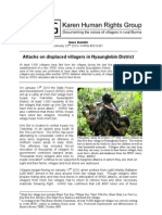 KHRG_Attacks on displaced villagers in Nyaunglebin District