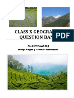 Class X Geography Question Bank