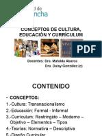 u.1. Cultura, Educación, Currículum