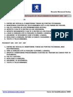 Procedimento de Codificação de Telecomandos Peugeot