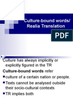 Culture bound words