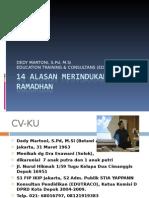 14-ALASAN-MERINDUKAN-RAMADHAN.ppt